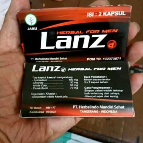 Grosir Lanza Herbal Supplement For M En