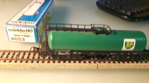 Marklin HO 4653 Freight Carriage BP (Vintage - West Germany)