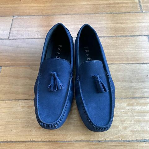 Prabu Navy Slip On Shoes