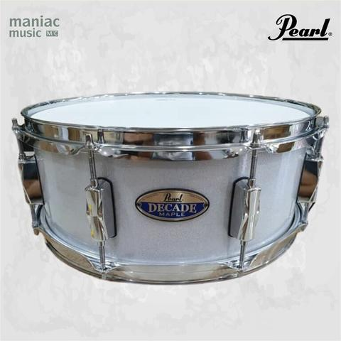 "Pearl DMPC1455S/C Decade Maple (Snare Drum, 14"" x 5.5"", 6 Ply Shell, Arctic Sparkle)"