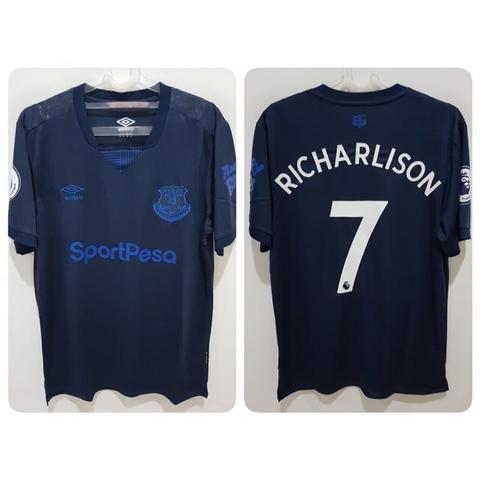 Jersey Everton 3rd 2019/2020 name player Richarlison + Patch EPL