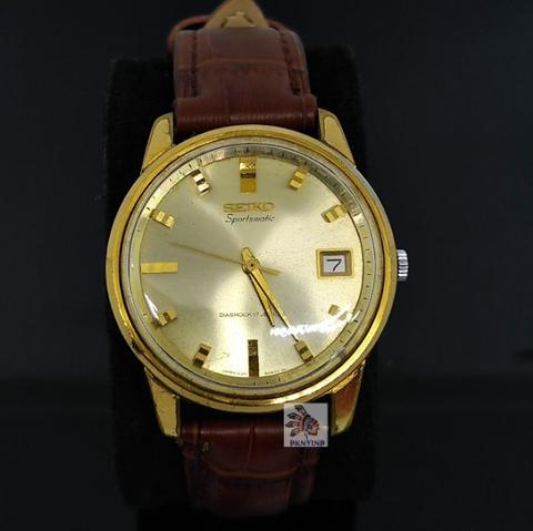 Seiko 7625 Sportsmatic Diashock series Light Gold Dial