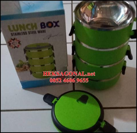 Lunch Box Rantang 3 Susun Doubel Stainless Steel BPN 0852 4606 9655