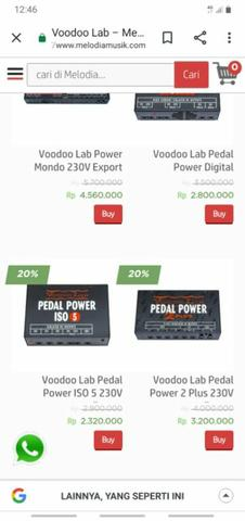 power supply voodoo lab pedal power iso5