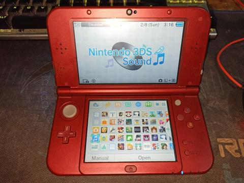 New Nintendo 3DS XL 64GB FULL GAME Warna Metallic Red Fullset mulus