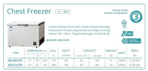CHEST FREEZER (AB-610-ITR -26'C)