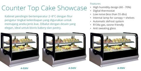 COUNTERTOP CAKE SHOWCASE (A-530V)