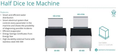 HALF DICE ICE MACHINE(BIN IB-400)