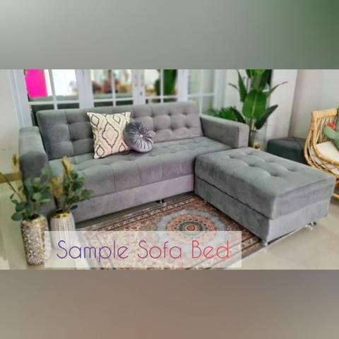 Sofa Bed Besar plus Sofa Puf