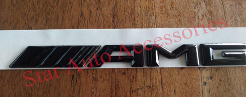 Emblem Letter Mercedes Benz AMG Black Gloss 08' - 14'