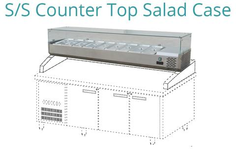 S/S COUNTER TOP SALAD CASE (STC-188)