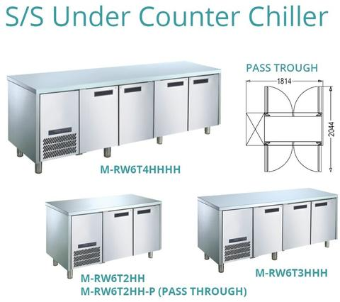 S/S UNDER COUNTER CHILLER(M-RW6T3HHH)