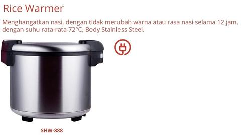 RICE COOKER (SHW-888)