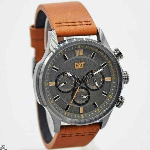 Jam Tangan Pria Caterpillar AG-159-35-524 Leather Kulit Original