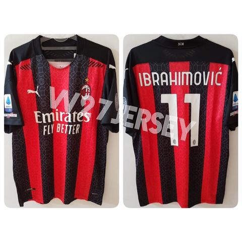 Jersey AC Milan Home Player Issue 2020/2021 name player Ibrahimovic + Patch
