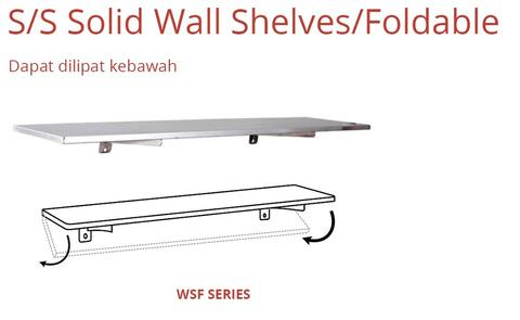 S/S SOLID WALL SHELVES/FOLDABLE (WSP-90)