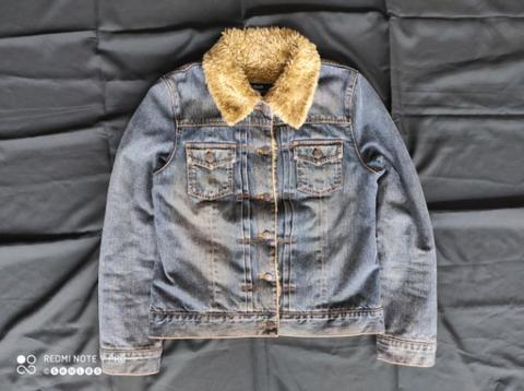 JAKET TRUCKER JEANS SHERPA GAP denim lee wrangler levi's japan nudie evisu.