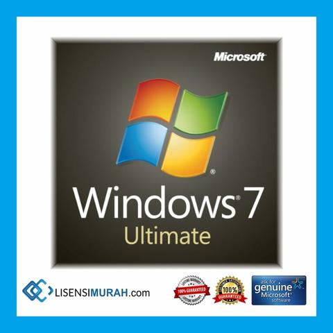 Lisensi Original Windows 7 Professional & Ultimate Aktivasi Online