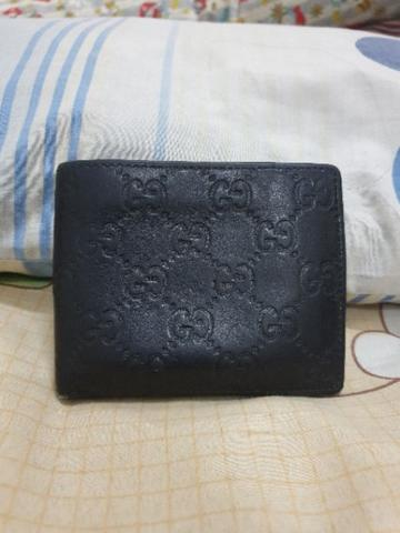 Gucci black guccisima bifold wallet original authentic not LV hermes bally salvatore