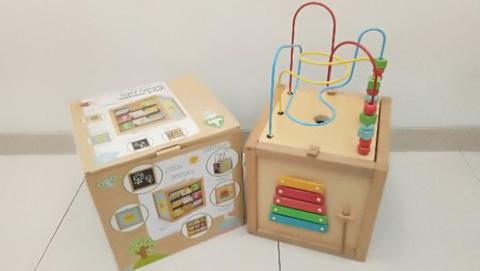 Big Wooden Activity Cube ELC