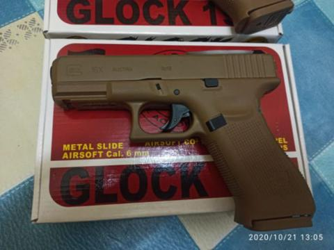 Umarrex glock 19x Full tan Full upgrade