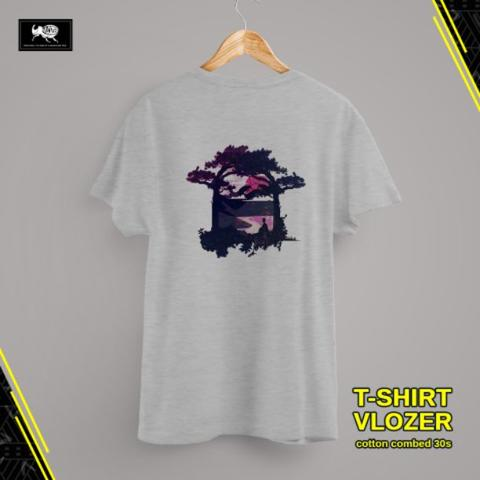 T-SHIRT KAOS DISTRO COWOK COTTON COMBED 30S VLOZER TREE