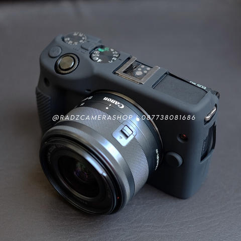 Canon EOS M3 Black Kit 15-45mm STM Mulus
