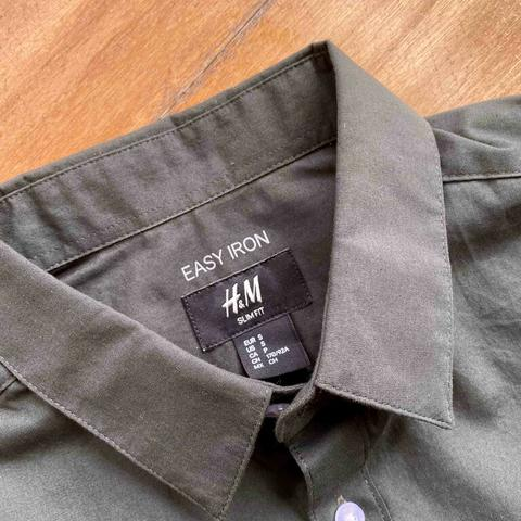 H&M Dark Green Shirt