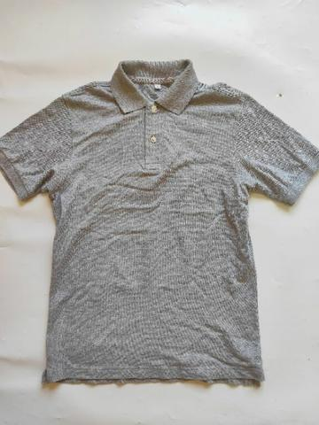 Polo Shirt Uniqlo Grey