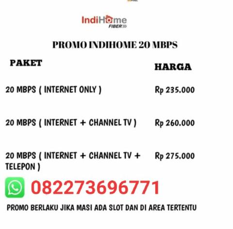 Promo WiFi INDIHOME internet unlimited Medan