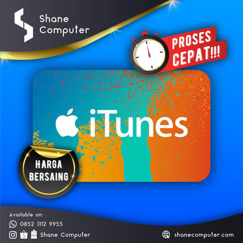 Shane Comp ● iTunes Gift Card USD ● Harga Ciamik ● Trusted SELLER