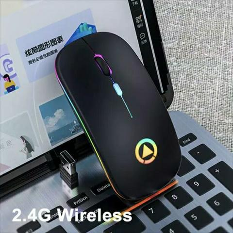 Mouse Gaming Wireless RGB 1600dpi Silent