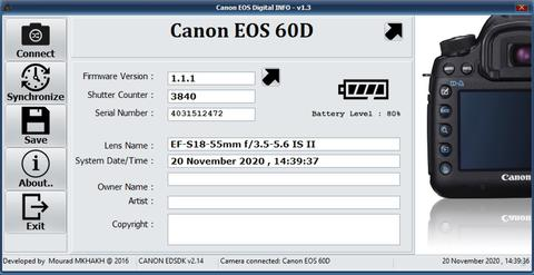 Canon 60D Kit 18-55 mm IS II SC 3rb-an Mulus