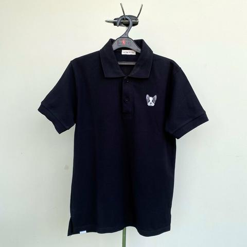 A Cup of Tee French Bulldog Black Polo Shirt