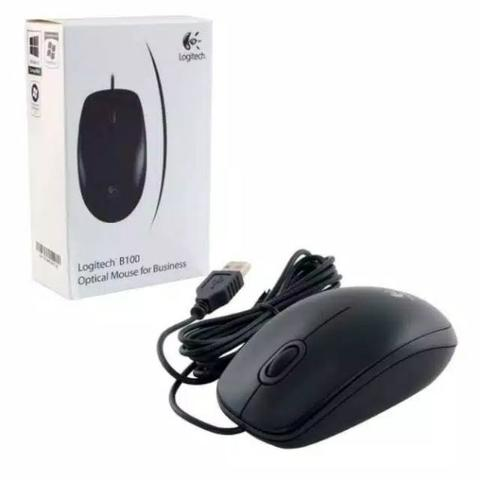 Optical USB Mouse Logitech B100 Wired