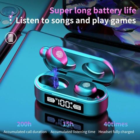 AMOI F9-6 TWS Earphone Olahraga, Bluetooth 5.0 Nirkabel.