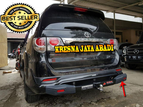 TANDUK BELAKANG / TOWING BAR RHINO ALL NEW FORTUNER PLUS REFLECTOR