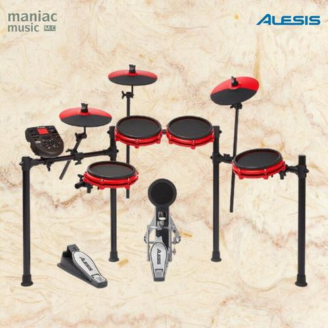 Alesis Nitro Mesh Kit Red Special Edition (Drum Elektrik, 8 Pcs, Mesh Head)