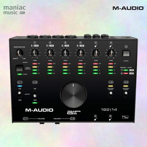 M-Audio Air 192 14 (USB Audio Interface, 8 In, 4 Out, MIDI In Out, Professional)