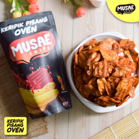 Keripik Pisang Oven Musae Chip Spicy Milk Chocolate