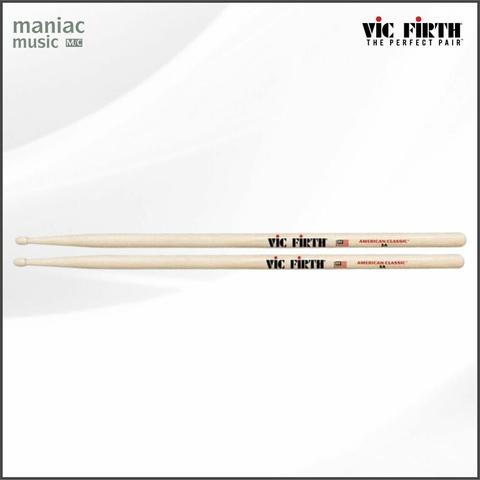 Vic Firth 5A (Stick Drum, Hickory, American Classic, Wood Tip, Classic Design)