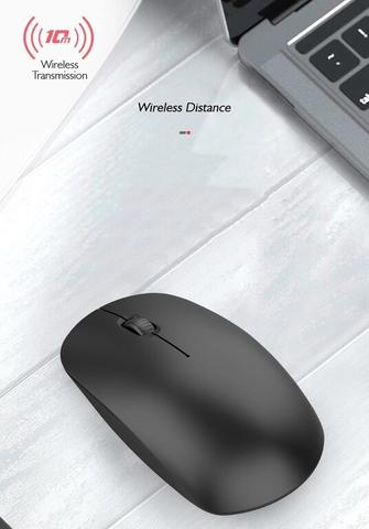 Mouse Dual Mode Bluetooth dan Wireless Silent Klik with LED