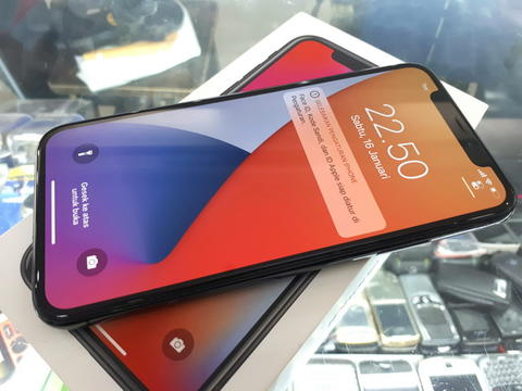 Hape Seken iPhone X 64GB 4G LTE Mulus Fullset Normal