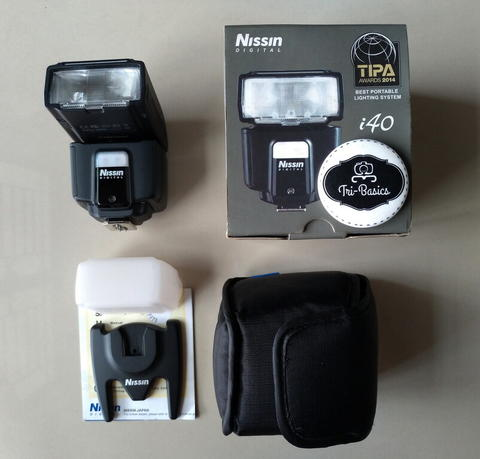 Flash Blitz Blits Nissin i40 A i40A For Canon Mirrorless DSLR Like New Fullbox