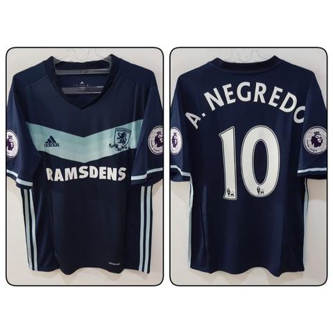 Jersey Middlesbrough Away 2016/2017 name player A.Negredo + Patch EPL