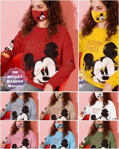 Sweater Babyterry Mickey Free Masker Wanita