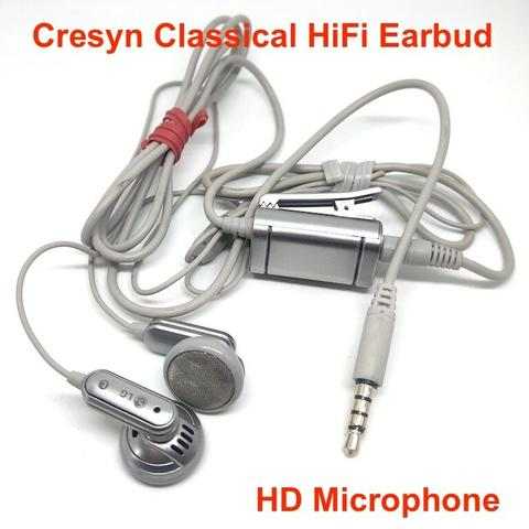 Classical HiFi Earbud LG Headset With HD Microphone Made By Cresyn