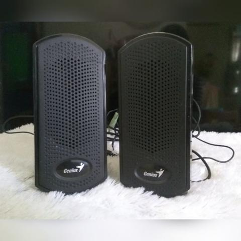 Preloved Speaker Genius Black PC Hitam Murah