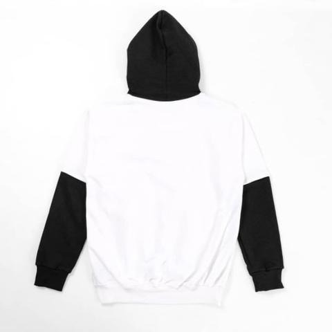 Iconic Pullover Hoodie - WHITE BLACK