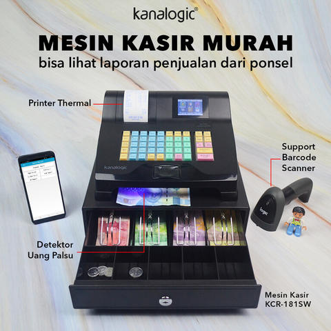 Mesin Kasir / Cash Register Kanasecure KCR-181SW